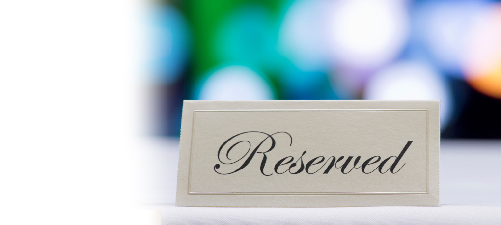 Table Calendar 2018 : Table reservations above rooftop
